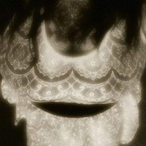 Art Deco pattern ivory lace sleeveless top